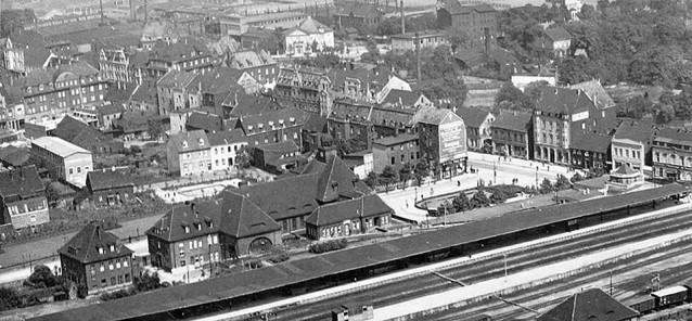 Luftbild Herner Bahnhof 1926
